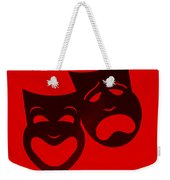 Comedy N Tragedy Red Weekender Tote Bag