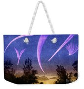 Comets In Night Sky Weekender Tote Bag
