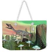 Compsognathus Dinosaur - 3d Render Weekender Tote Bag