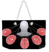 Conceptual Image Of Multi-brain Weekender Tote Bag