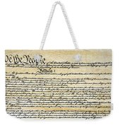 Constitution Weekender Tote Bag