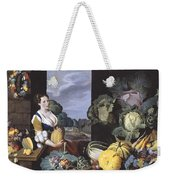 Cookmaid With Still Life Of Vegetables And Fruit Weekender Tote Bag