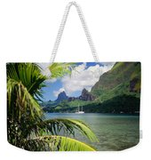 Cooks Bay With Sailboat Weekender Tote Bag