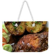 Cordon Bleu Breaded Fried Chicken Gravy And Potatoes Meal Weekender Tote Bag