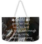Cowgirl Attitude Weekender Tote Bag