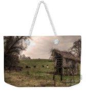 Cows In A Field By A Barn Weekender Tote Bag