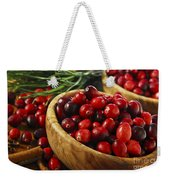 Cranberries In Bowls Weekender Tote Bag
