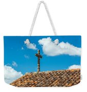 Cross And Tiled Roof Weekender Tote Bag