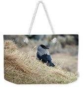 Crow In The Gras Weekender Tote Bag