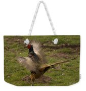 Crowing Pheasant Weekender Tote Bag