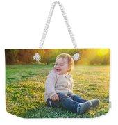 Cute Baby Boy Outdoors Weekender Tote Bag