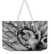 Dahlia In Black And White Close Up Weekender Tote Bag