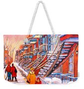 Debullion Street Winter Walk Weekender Tote Bag