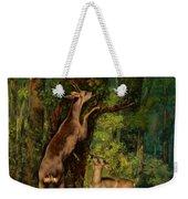 Deer In The Forest, 1868 Weekender Tote Bag