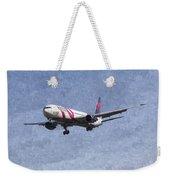 Delta Airlines Boeing 767 Art Weekender Tote Bag