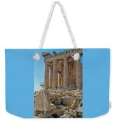 Detail Of The Acropolis Of Athens, Greece Weekender Tote Bag