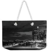 Detroit River Walk Panorama Weekender Tote Bag