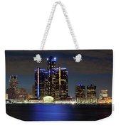 Detroit Skyline Panorama Weekender Tote Bag
