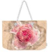 Digitally Manipulated Pink English Rose  Weekender Tote Bag