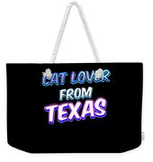 Dog Lover From Texas Weekender Tote Bag