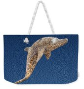 Dolphin Shell Art Sculpture Weekender Tote Bag