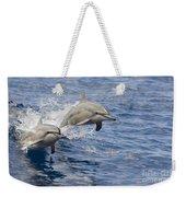 Dolphins Leaping Weekender Tote Bag