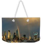 Double Rainbow Over The City Of London Weekender Tote Bag