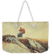 Down The Cliff Weekender Tote Bag by Winslow Homer