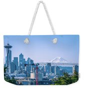 Downtown Cityscape View Of Seattle Washington Weekender Tote Bag