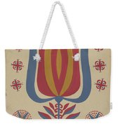 """Drawing For Plate 9: From The Portfolio """"folk Art Of Rural Pennsylvania"""" Weekender Tote Bag"""