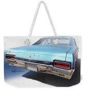 Sky Blue Skylark Weekender Tote Bag