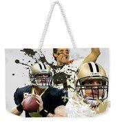 Drew Brees Saints Weekender Tote Bag
