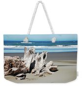 Driftwood On Beach Weekender Tote Bag