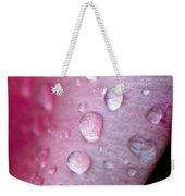 Droplets On Pink Weekender Tote Bag