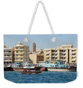 Dubai Creek And Abra Boats Weekender Tote Bag