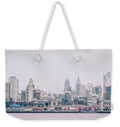 Early Morning Sunrise Over Philadelphia Pennsylvania Weekender Tote Bag