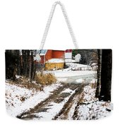 Early Winter Barn Weekender Tote Bag