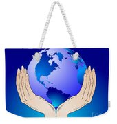Earth In The Your Hands Weekender Tote Bag
