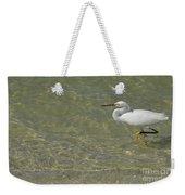 Eastern Great Egret In Florida Weekender Tote Bag