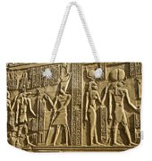 Egyptian Temple Art Weekender Tote Bag by Michele Burgess