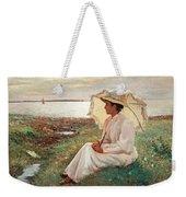 Elegant Lady By The Sea Weekender Tote Bag