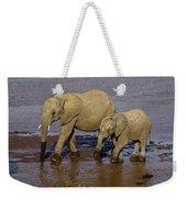 Elephant Crossing Weekender Tote Bag