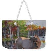 Elk Country Evening Weekender Tote Bag
