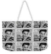 Elvis Commemorative Stamp January 8th 1993 Painted Bw Weekender Tote Bag