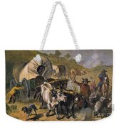 Emigrants To West, 19th C Weekender Tote Bag