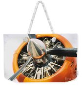 Engine And Propellers Of Aircraft Close Up Weekender Tote Bag