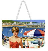 England Weston Super Mare Vintage Travel Poster Weekender Tote Bag