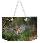 European Robin Alighting Weekender Tote Bag