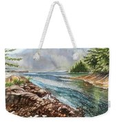Evening By The River Weekender Tote Bag