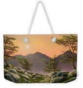 Evening Moonrise Weekender Tote Bag